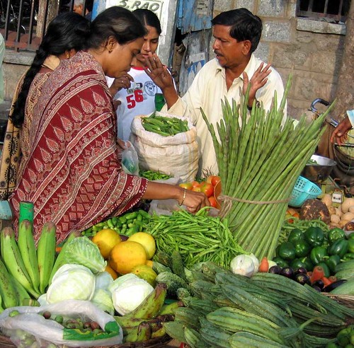 Ladies Buying Vegetables