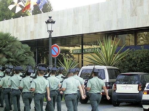 Guardias civiles en Ceuta