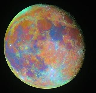 Moon - Enhanced Colour