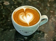 latte art, latte heart
