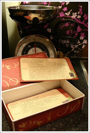 Inside the Recipe Box