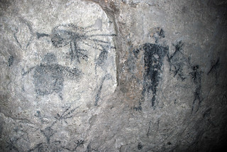 Lelepa expedition 18, cave drawings in Fele's Cave, 24 Nov. 2006