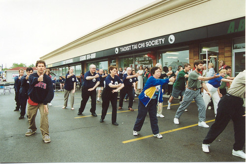 buffalo grand opening 2001 - outside demonstration of tai ch