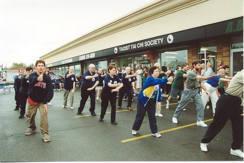 buffalo grand opening 2001 - outside demonstration of tai ch