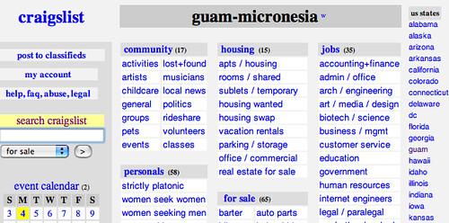 Craigslist Guam Autos Weblog
