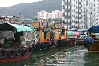 Houseboats at Aberdeen Harbour, Hong Kong, China