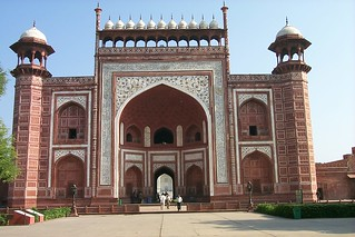 The entrance to the grounds of the Taj Mahal, Agra, India