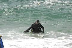 A diver at Monastery Beach