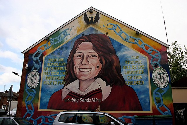 Bobby sands murals of issues belfast northern for Bobby sands mural falls road
