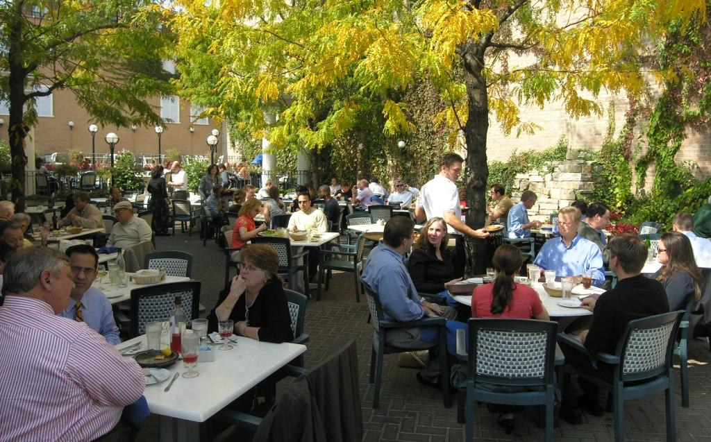 Garden patio at Athena Restaurant & Garden - 212 S Halsted St