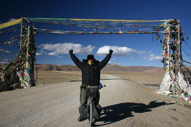 Made it! A happy Nicolai at the 5050m Tong La Pass. Western Tibet.