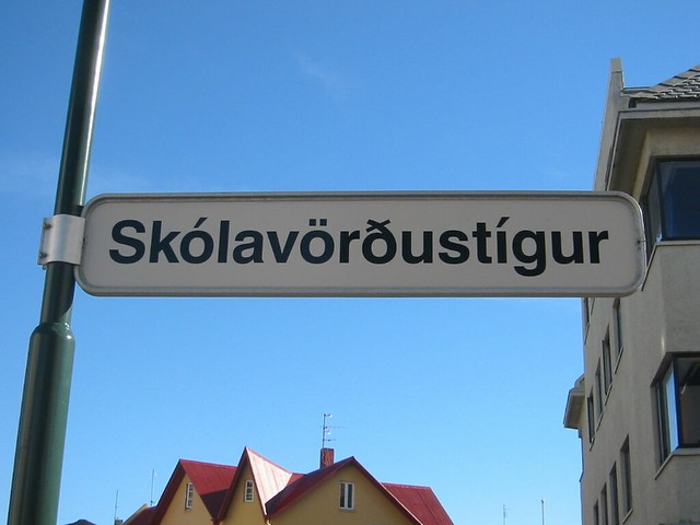 Typical Icelandic tongue-twister street name