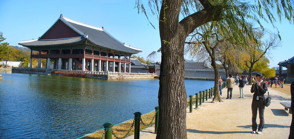 Image result for paviliun gyeonghoeru in autumn