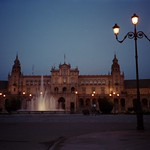 Night in Plaza de Espana - Sevilla, Spain