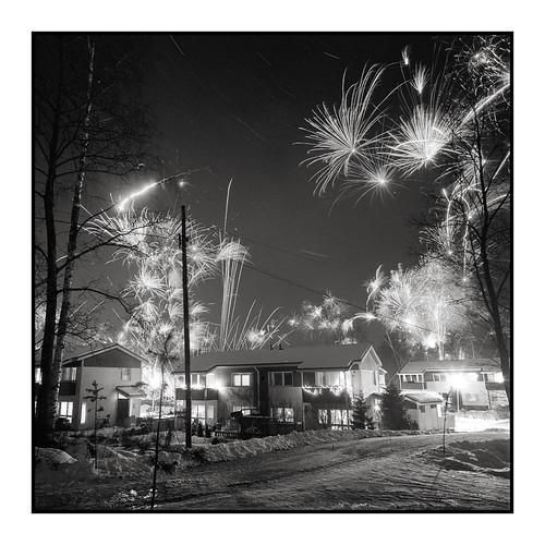 night stars geotagged star fireworks trails newyear hasselblad swc 903swc