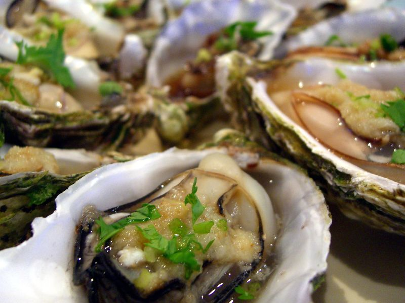 Steamed Oysters