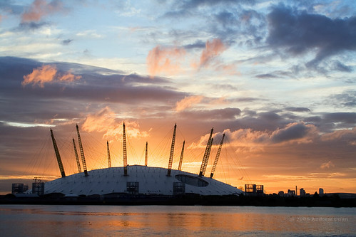 Millennium Dome at dawn