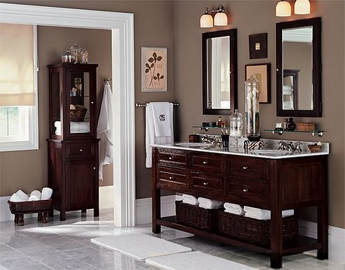 Taupe bathroom flickr photo sharing for Taupe bathroom ideas