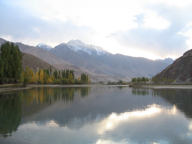Gilgit river at dusk, Phander