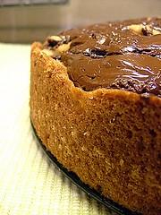 Tarte au chataigne poire et chocolat noir