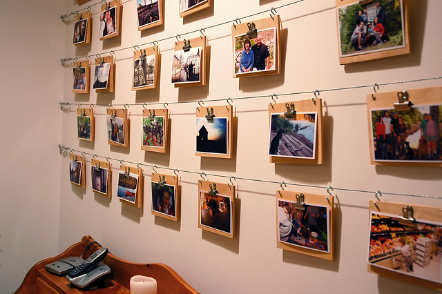 Cheap Easy Photo Display Wall Flickr Photo Sharing