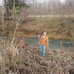 Spencer on the floodplain where his sensors were