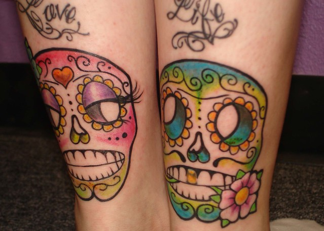 sugar skull couple - a photo on Flickriver