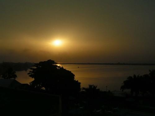africa sea water sunrise island landscapes 2006 lagoon victoria lagos atlantic westafrica nigeria tropics saltwater