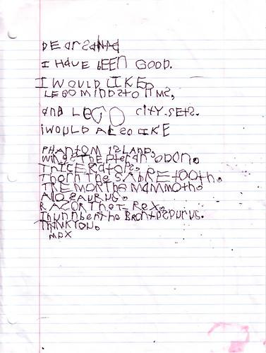 Max Santa Letter 2006