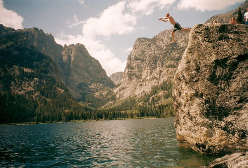 Grand Tetons Cliff Jumping