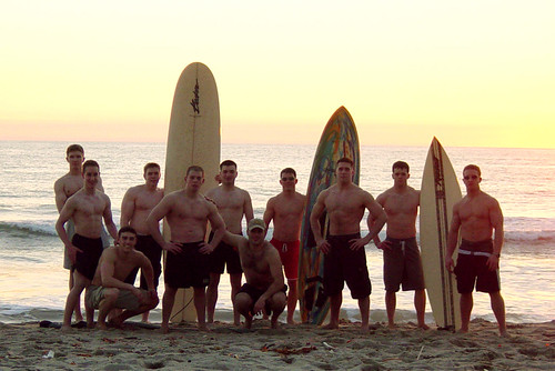 Team at the beach in Cali