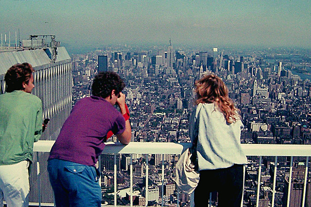 observation deck 107th floor tower 2 1992 date girl wife