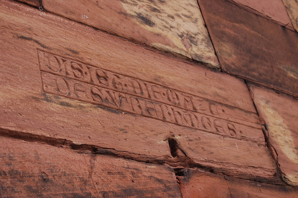 Lombard Lettering outside the Strasbourg Cathedral.JPG