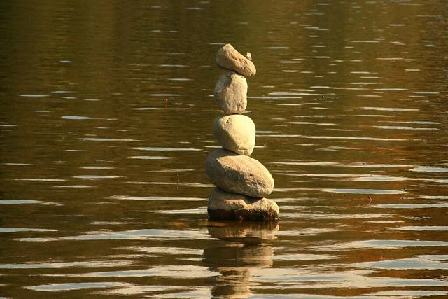 Rock standing tall