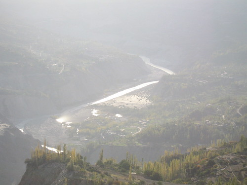 Hunza river valley, from our viewpoint near Duikar, Karimabad