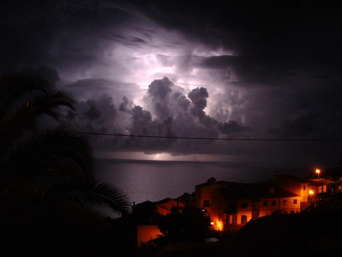 Thunder above Madeira waters - Madeira Portugal