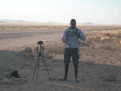 the guy with cameras, Namibia
