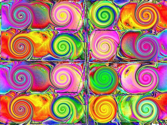 Psychedelic spirals - spirales psychédélique - Psychedelische Spiralen