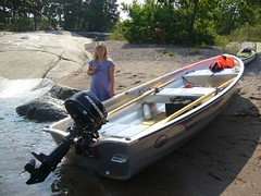 canoe(0.0), watercraft rowing(0.0), inflatable boat(0.0), jon boat(1.0), dinghy(1.0), vehicle(1.0), skiff(1.0), bass boat(1.0), boating(1.0), motorboat(1.0), watercraft(1.0), boat(1.0),
