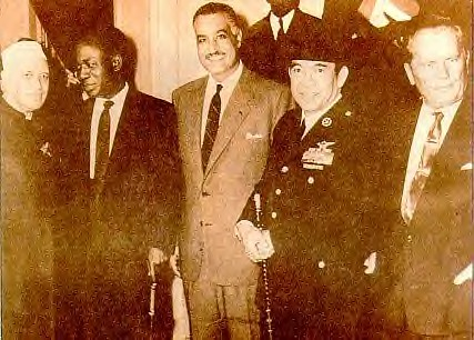 Kwame Nkrumah with other co-founders of the Non-Aligned Movement: Nehru of India, Nassar of Egypt, Sukharno of Indonesia and Tito of Yugoslavia in late 1960 by Pan-African News Wire Photo File