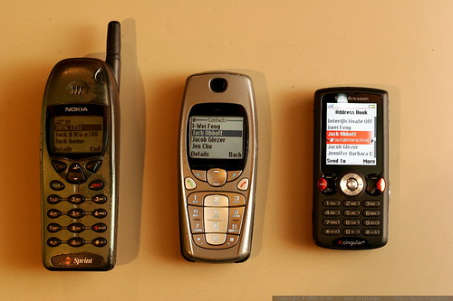 cell phone evolution   from nokia brick to sony ericsson w810i    MG 6192