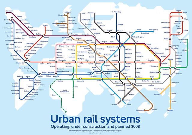 World Metro Map by Mark Ovenden