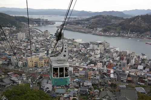 bridge sea japan view hiroshima ropeway cableway onomichi seilbahn teleferique teleferic 尾道 teleferik da1645mm телеферик