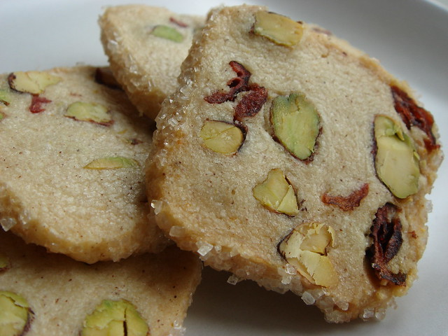 Pistachio Cranberry Icebox Cookies | This is a recipe publis ...