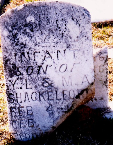 Infant Son of Young and Mary Shackelford