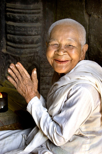 Cambodian Nun at Bayon
