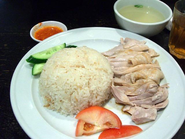 Hainanese Chicken Rice - Singapore Chom Chom | Flickr - Photo Sharing!