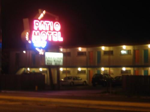 Patio Motel sign