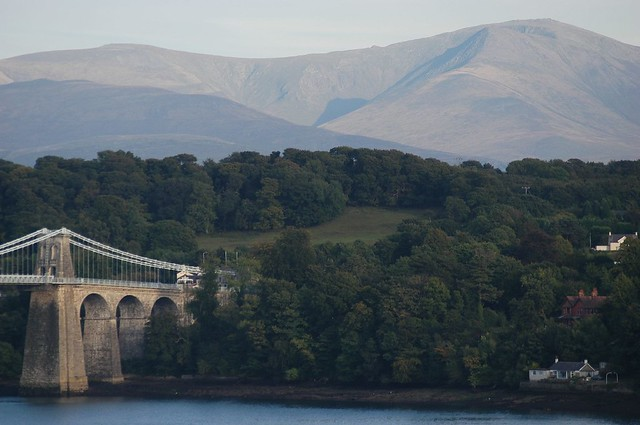 Menai Suspension Bridge and Snowdonia