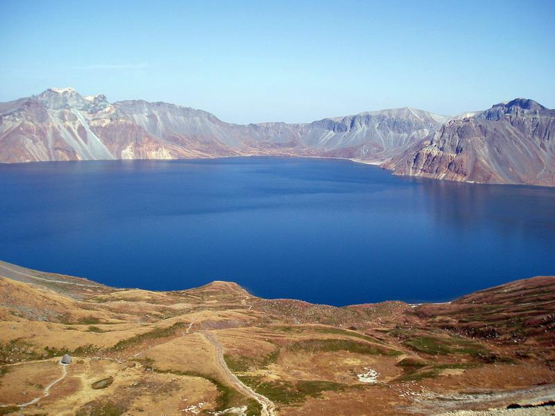 Mountains: Lake Cheonji, Baekdusan Mountain